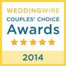 WeddingWire Couples' Choice Award 2014 badge